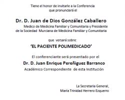 Conferencia - 'El Paciente Polimedicado'