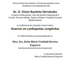 Toma de Posesión como Académico Correspondiente del Dr. Víctor Bautista Hernández