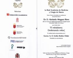 Conferencia - 'El estrabismo. Desterrando mitos'