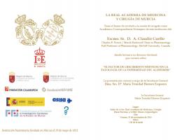Toma de Posesión como Académico Correspondiente Extranjero del Excmo. Sr. D. A. Claudio Cuello