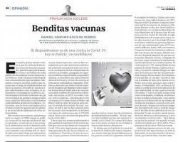 PRIMUM NON NOCERE. ARTICULO PUBLICADO EN LA VERDAD. ILMO SR DON. MANUEL SANCHEZ SOLIS