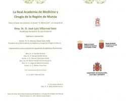 La Real Academia de Medicina y Cirugía de la Región de Murcia, le invita a la Sesión