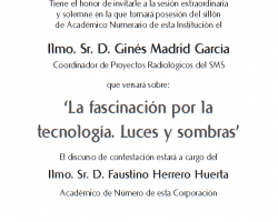Toma de Posesión como Académico Numerario de Ilmo. Sr. D. Ginés Madrid García