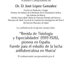 Toma de Posesión como Académico Correspondiente de Dr. D. José López Gonz´lez